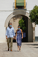 SEVILLE, SPAIN-June 29:  ***NO SPAIN*** King Felipe VI of Spain, Queen Letizia of Spain visit 'El Esqueleto' Civic Center and the Social Center of the 'Don Bosco Foundation at Poligono Sur (3000 viviendas)', the cathedral and the Reales Alcazares on June 29, 2020 in Sevilla, Spain. Credit: Jimmy Olsen/MediaPunch