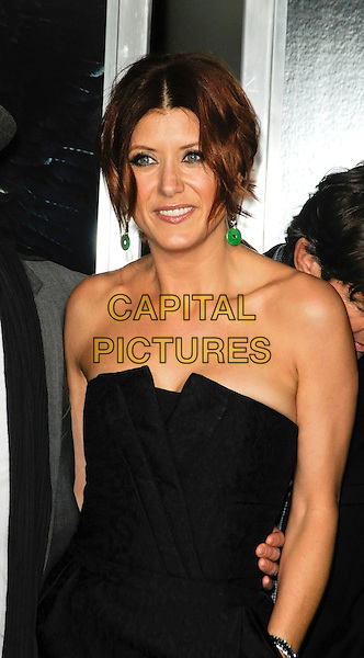 "KATE WALSH.Arriving at the world premiere of ""Legion"" at the ArcLight Hollywood Cinerama Dome in Hollywood, California, USA, January 21st, 2010..half length strapless pattern dress green earrings dangly hair up .CAP/ROT.©Lee Roth/Capital Pictures"