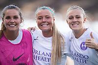 Orlando, FL - Wednesday September 11, 2019: Dani Weatherholt, Danica Evans, Rachel Hill , Orlando Pride vs  Chicago Red Stars at Exploria Stadium.