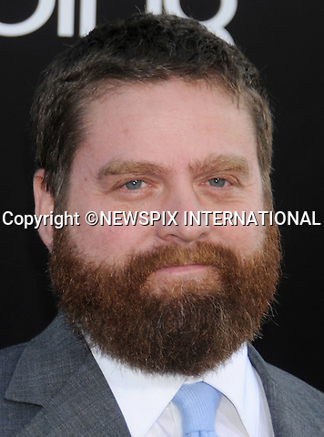 """Zach Galifianakis.arrives at the Los Angeles Premiere of """"The Hangover Part II"""" at the Grauman's Chinese Theatre on May 19, 2011 in Hollywood, California. .Mandatory Photo Credit: ©Crosby/Newspix International..**ALL FEES PAYABLE TO: """"NEWSPIX INTERNATIONAL""""**..PHOTO CREDIT MANDATORY!!: NEWSPIX INTERNATIONAL(Failure to credit will incur a surcharge of 100% of reproduction fees)..IMMEDIATE CONFIRMATION OF USAGE REQUIRED:.Newspix International, 31 Chinnery Hill, Bishop's Stortford, ENGLAND CM23 3PS.Tel:+441279 324672  ; Fax: +441279656877.Mobile:  0777568 1153.e-mail: info@newspixinternational.co.uk"""