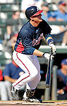 5 March 2007: Atlanta Braves catcher Clint Sammons in action against the Washington Nationals at Disney's Wide World of Sports in Orlando, Florida. The Braves are celebrating 10 years of Spring Training at the Disney facility.<br /> <br /> Mandatory Photo Credit: Ed Wolfstein Photo
