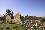 Israel, Shephelah, ruins of an old building in Modiin