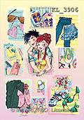 Interlitho, Nino, TEENAGERS, paintings, couple, clothes(KL3906,#J#) Jugendliche, jóvenes, illustrations, pinturas ,everyday