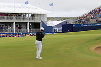Thorbjorn Olesen (DEN) chips onto the 18th green during Saturday's Round 3 of the Dubai Duty Free Irish Open 2019, held at Lahinch Golf Club, Lahinch, Ireland. 6th July 2019.<br /> Picture: Eoin Clarke | Golffile<br /> <br /> <br /> All photos usage must carry mandatory copyright credit (© Golffile | Eoin Clarke)