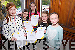 Some of the Students of Bryan Carr School of Performing Arts who received Cerficate of Merit in Musical Theatre from the Irish Board of Speech and Drama on Saturday. Pictured l-r Clodagh Hickey, Abigail Foley, Mairead McCarthy, Grainne O'Shea and Sinead Carr