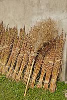 Broom and Sesame Seed stalks, Xidi Village, UNESCO World Heritage Site, China