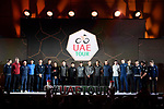 The inaugural UAE Tour 2019 opening ceremony and team presentation held in the Louvre Abu Dhabi, United Arab Emirates. 23rd February 2019.<br /> Picture: LaPresse/Fabio Ferrari | Cyclefile<br /> <br /> <br /> All photos usage must carry mandatory copyright credit (© Cyclefile | LaPresse/Fabio Ferrari)