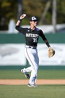 Kentucky Wesleyan Panthers shortstop Tyler Howard (35) during a game against Slippery Rock University at Jack Russell Stadium on March 14, 2014 in Clearwater, Florida.  Slippery Rock defeated 18-13.  (Mike Janes/Four Seam Images)