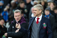 Arsenal Manager Arsene Wenger ahead of the Premier League match between West Ham United and Arsenal at the Olympic Park, London, England on 13 December 2017. Photo by Andy Rowland.