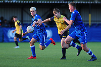 Cardiff and Vale College v Bridgend, Welsh Schools FA Cup Final at Cardiff Met, Cardiff, Wales, UK. On Tuesday 14 May 2019