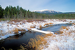 Winter view of Mt. Katahdin in Baxter State Park, Maine, USA