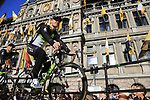 Tyler Farrar (USA) Team Dimension Data on stage at sign on before the 101st edition of the Tour of Flanders 2017 running 261km from Antwerp to Oudenaarde, Flanders, Belgium. 26th March 2017.<br /> Picture: Eoin Clarke | Cyclefile<br /> <br /> <br /> All photos usage must carry mandatory copyright credit (&copy; Cyclefile | Eoin Clarke)