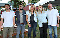NWA Democrat-Gazette/CARIN SCHOPPMEYER Bryce Harrison (from left), Logan Webster, Jordan Garner and Nicole and Pete Sieren<br />