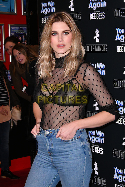 Ashley James<br /> arrivals at UK premiere of &quot;You Win Again: the Story of the Bee Gees premiere&quot; a touring musical production telling the story of The Brothers Gibb from their manager's perspective, at Leicester Square Theatre, London on January 30, 2017.<br /> CAP/JOR<br /> &copy;JOR/Capital Pictures