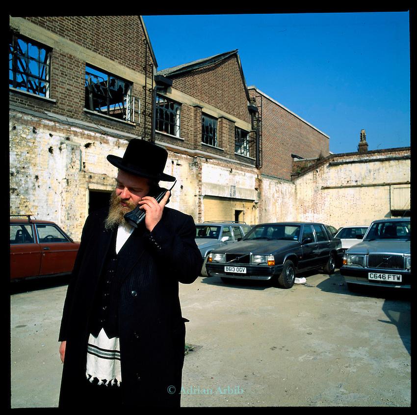 Zalmie Marguilles, volvo car salesman - Stamford Hill. London