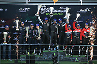 #77 DEMPSEY PROTON RACING (DEU) PORSCHE 911 RSR GTE AM CHRISTIAN RIED (DEU) MATT CAMPBELL (AUS) RICCARDO PERA (ITA) WINNER LMGTE AM<br /> #90 TF SPORT (GBR) ASTON MARTIN VANTAGE GTE AM SALIH YOLUC (TUR) EUAN ALERS HANKEY (GBR) CHARLES EASTWOOD (GBR) SECOND GTE AM<br /> #61 CLEARWATER RACING (SGP) FERRARI 488 GTE GTE AM LUIS PEREZ CAMPANC (ARG) MATTEO CRESSONI (ITA) MATTHEW GRIFFIN (IRL) THIRD LMGTE AM