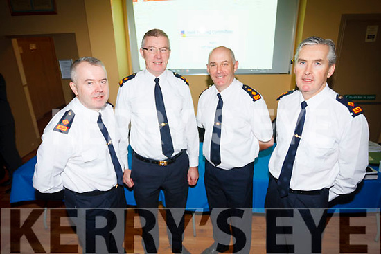 Superintendent Dan Keane, Superintendent Jim O'Connor, Chief Superintendent Tom Myers and Superintendent Flor Murphy at the recent Joint Policing Committee meeting.