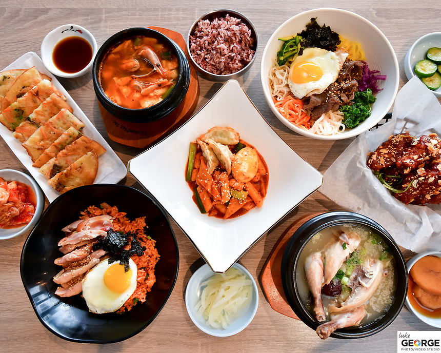 Spoon Korean Bistro Fremont Menu Shoot.  Bay Area restaurant photography by Luke George 2019.  More info at https://goo.gl/maps/i7Mruv14GGQ2