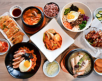 Spoon Korean Bistro Fremont Menu Shoot.  Bay Area restaurant photography by Luke George 2019.  More info at https://goo.gl/maps/i7Mruv14GGQ2
