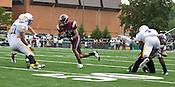 NCCU Wide Receiver Andrew Johnson during Saturday's game against Morehead State, who defeated North Carolina Central University 13-10 with a 45-yard field goal on the final play of double overtime at O'Kelly-Riddick Stadium in Durham, N.C. on Saturday, Sept. 19, 2009.