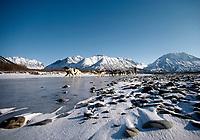 Guy Blankenship Near Rohn Area on S. Fork of Kuskokwim Iditarod 1986