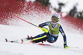 17th March 2018, Àvet Slope, Soldeu, Andorra; FIS Alpine Ski European Cup, Slalom Ladies Finals; #2 HAUGEN Kristine Cjelsten from NOR  during the Slalom Final