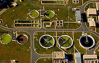 A sewage treatment plant in Charlotte NC. Aerial photography - October 2010
