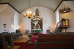 Interior of Bronnoy Church, Bronnoysund, Nordland, Norway built in 1870