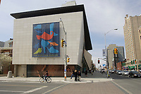 Toronto (ON) CANADA,  April , 2008-..The Bata shoe Museum on Bloor street and St. George Streets in downtown Toronto...It was on May 6th, 1995 that the Bata Shoe Museum opened its doors at 327 Bloor Street West in downtown Toronto. The 39,000 square foot building, designed by Moriyama and Teshima Architects, is unique. As a world-class specialized museum, it has become a major destination point for visitors and residents alike...