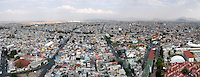 Panoramic aerial photographs of Mexico City