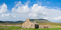 Burnmouth Bothy, a free shelter for travelers at Rackwick Bay, Hoy, Orkney, Scotland
