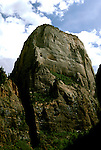 Utah: Great White Throne in Zion.  .Photo copyright Lee Foster, www.fostertravel.com..Photo #: rvutah105, 510/549-2202, lee@fostertravel.com