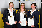 Girls Rowing finalists Anna De Long, Kayla Pratt & Nicole Hook. ASB College Sport Young Sportperson of the Year Awards 2008 held at Eden Park, Auckland, on Thursday November 13th, 2008.