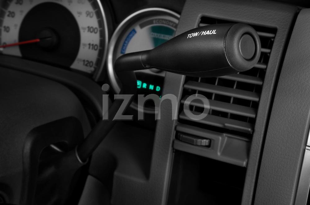 Gear shift detail view of a 2009 Dodge Durango Hybrid