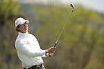 JEJU, SOUTH KOREA - APRIL 23:  Hong Soon-sang of South Korea tees off on the 14th hole during the fog-delayed Round One of the Ballantine's Championship at Pinx Golf Club on April 23, 2010 in Jeju island, South Korea.  Photo by Victor Fraile / The Power of Sport Images