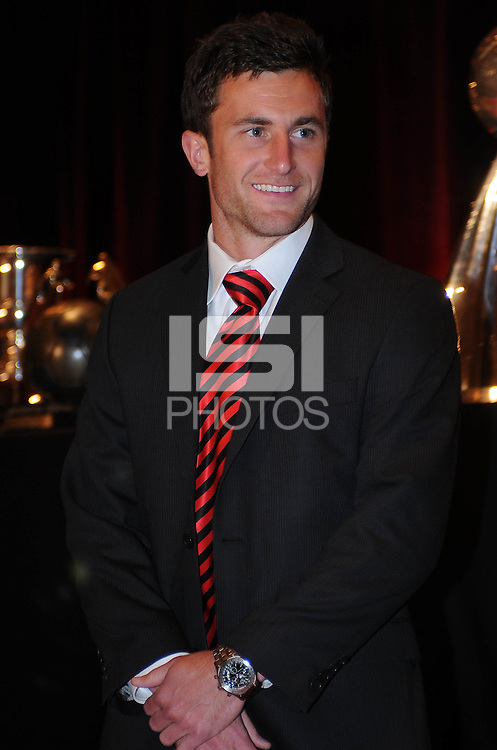 D.C. United midfielder Kurt Morsink,at the United Kickoff luncheon, at the Marriott hotel in Washington DC, March 5, 2012.