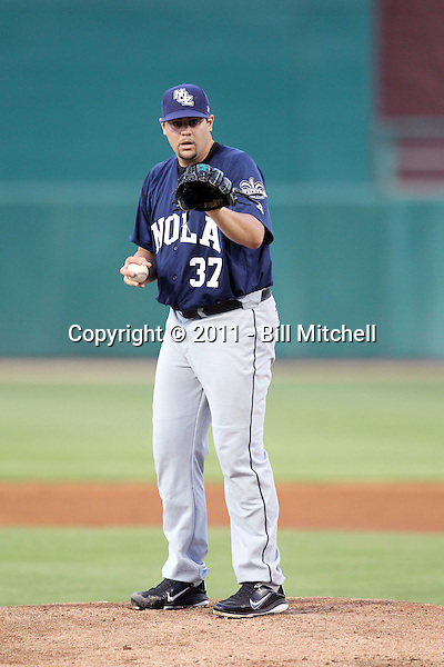 Elih Villanueva - New Orleans Zephyrs - 2011 Pacific Coast League.Photo by Bill Mitchell