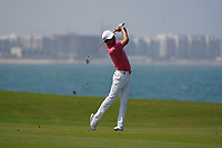 Jeunghun Wang (KOR) on the 9th during Round 3 of the Oman Open 2020 at the Al Mouj Golf Club, Muscat, Oman . 29/02/2020<br /> Picture: Golffile   Thos Caffrey<br /> <br /> <br /> All photo usage must carry mandatory copyright credit (© Golffile   Thos Caffrey)