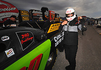 Nov. 1, 2008; Las Vegas, NV, USA: NHRA funny car driver Bob Bode during qualifying for the Las Vegas Nationals at The Strip in Las Vegas. Mandatory Credit: Mark J. Rebilas-