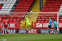 Alex Cairns of Fleetwood Town catches the cross during the Sky Bet League 1 match between Charlton Athletic and Fleetwood Town at The Valley, London, England on 17 March 2018. Photo by Carlton Myrie.