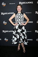 "LOS ANGELES - MAR 23:  Emma Kenney at the ""Roseanne"" Premiere Event at Walt Disney Studios on March 23, 2018 in Burbank, CA"