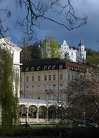 Parkcolonnade in Karlovy Vary, Czech Republic, Europe