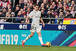 Real Madrid's Sergio Reguilon during La Liga match between Atletico de Madrid and Real Madrid at Wanda Metropolitano Stadium in Madrid, Spain. February 09, 2019. (ALTERPHOTOS/A. Perez Meca)