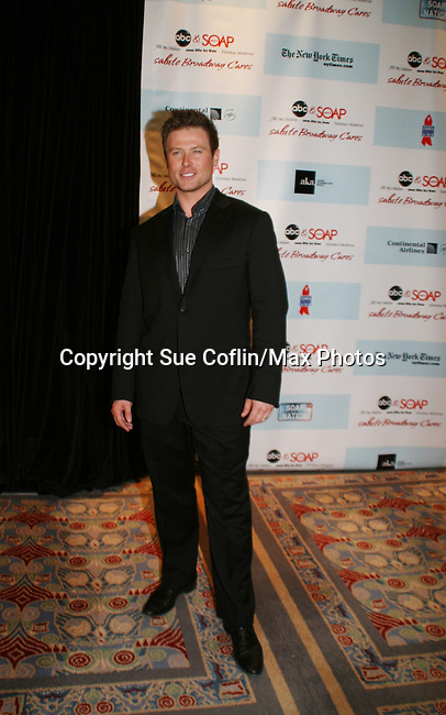"""All My Children's Jacob Young """"JR"""" attends the after party of ABC and SOAPnet's Salutes to Broadway Cares/Equity Fights Aids on March 9, 2009 at the New York Marriott Marquis, New York, NY.  (Photo by Sue Coflin/Max Photos)"""