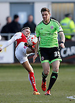 Dean Hammond of Sheffield Utd tussles with David Ball of Fleetwood Town  - English League One - Fleetwood Town vs Sheffield Utd - Highbury Stadium - Fleetwood - England - 5rd March 2016 - Picture Simon Bellis/Sportimage