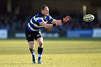 Jack Wilson of Bath Rugby receives the ball. Aviva Premiership match, between Bath Rugby and Sale Sharks on February 24, 2018 at the Recreation Ground in Bath, England. Photo by: Patrick Khachfe / Onside Images