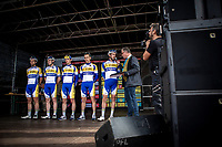 Team Sport Vlaanderen Baloise at the pre race team presentation. <br /> <br /> 23th Memorial Rik Van Steenbergen 2019<br /> One Day Race: Beerse > Arendonk 208km (UCI 1.1)<br /> ©kramon