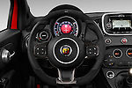 Car pictures of steering wheel view of a 2016 Abarth 595 Competizione 2 Door Convertible Steering Wheel