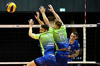 GRONINGEN - Volleybal, Lycurgus - Fino Kaposvar, Challenge Cup, seizoen 2019-2020, 19-12-2019,  smash Lycurgus speler Collin Mahan