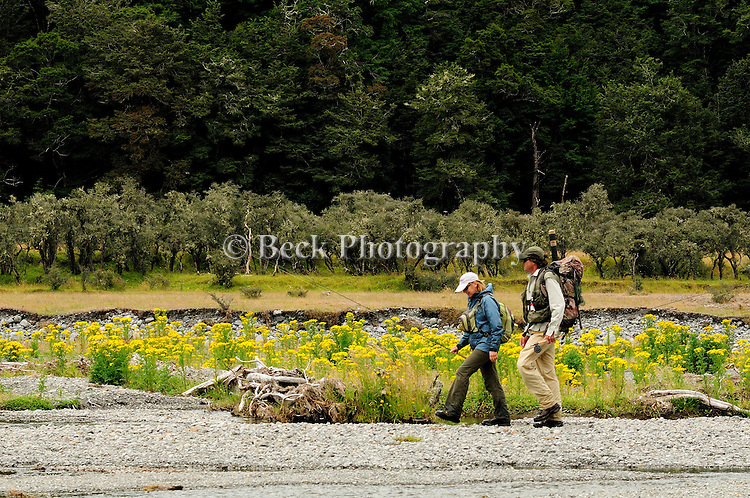 fly fishing the Hope River on the South Island of New Zealand